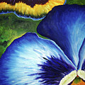 Blue Pansies  by Nancy Mueller
