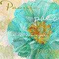 Blue Peony by Mindy Sommers