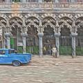 Blue Pickup In Cuba by David Frigerio