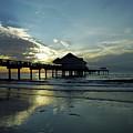 Blue Pier 60 Sunset by D Hackett