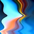 Blue Pinch Wave by Ruth Palmer