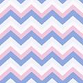 Blue Pink Chevron Pattern by Christina Rollo
