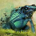 Blue Poisonous Frog by Jaroslaw Blaminsky