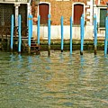 Blue Poles In Venice by Michael Henderson