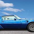 Blue Pontiac Trans Am 1978 by Gill Billington