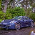 Blue Porsche  by Bill Posner