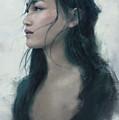 Blue Portrait by Eve Ventrue
