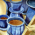 Blue Pots by Marsha Elliott