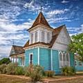 Blue Prairie Church by Linda Unger