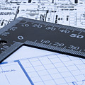 Blue Prints And Ruler by Blink Images