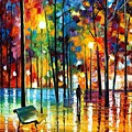 Blue Refelctions by Leonid Afremov