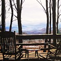 Blue Ridge Mountain Porch View by Patricia L Davidson