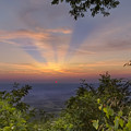 Blue Ridge Mountain Sunset by Debra and Dave Vanderlaan