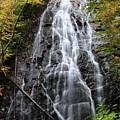 Blue Ridge Parkway Crabtree Falls In Autumn by Carol Montoya