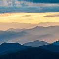 Blue Ridge Parkway Nc Blue Ridges And Golden Light by Robert Stephens