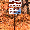 Blue Ridge Parkway Sign by Les Palenik