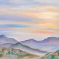 Blue Ridge Sunset In Spring by MM Anderson