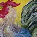 Blue Rooster by Leslie Manley