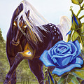 Blue Rose Unicorn by Melissa A Benson