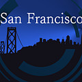 Blue San Francisco Skyline by Alberto RuiZ