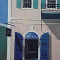 Blue Shutters In Charlotte Amalie by Robert Rohrich