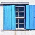 Blue Shutters Of Peniche by David Letts