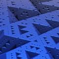Blue Sierpinski by Lyle Hatch