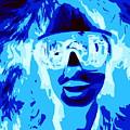 Blue Skier Bob by Ed Weidman