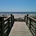 Blue Sky And Beautiful Beach by Carol  Bradley