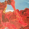 Blue Sky And Orange Rocks by Suzanne  Marie Leclair