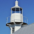 Blue Sky At The Lighthouse by D Hackett