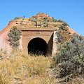 Blue Sky Black Tunnel by Pat Turner