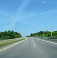 Blue Sky Empty Road by Zau