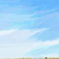 Blue Sky Minimalist Painting by Eliza Donovan