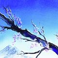 Blue Sky Mountains Spring  by Irina Sztukowski