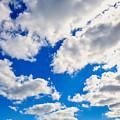 Blue Sky With Cloud Closeup 2 by Jeelan Clark