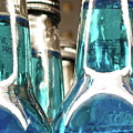 Blue Soda Abstract by Bonnie See