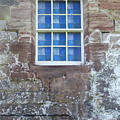 Blue Squares In The Castle Window by Christi Kraft