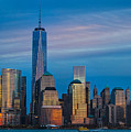 Blue Sunset At The World Trade Center by Eleanor Abramson