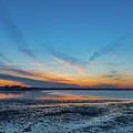 Blue Sunset Over Houghs Neck In Quincy Massachusetts by Brian MacLean