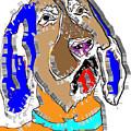 Blue Tic Hound Colorful by Dalon Ryan