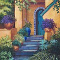 Blue Tile Steps by Candy Mayer
