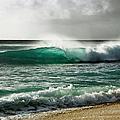Blue Translucent Wave by Charmian Vistaunet