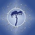 Blue Tree Of Life by JoAnn Grafton