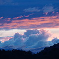 Blue Twilight Clouds Art Prints Mountain Pink Sunset Baslee Troutman by Baslee Troutman