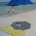 Blue Umbrella by John Terry