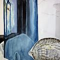 Blue Vase by Kandyce Waltensperger