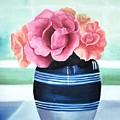 Blue Vase by Maria Mills