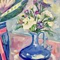 Blue Vase by Patsy Walton