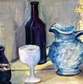 Blue Vases by Geraldine Liquidano